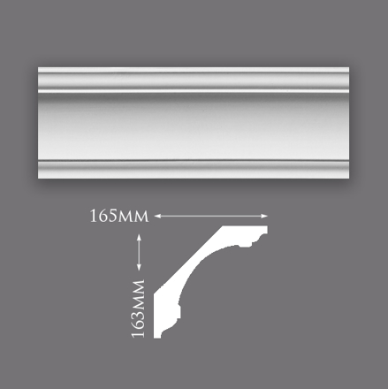 Picture of Large Swan Neck Plaster Cornice