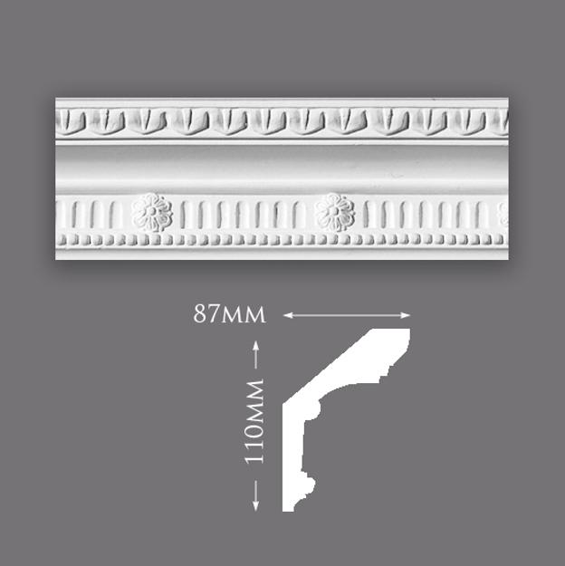 Picture of Small Rib & Floret Plaster Cornice
