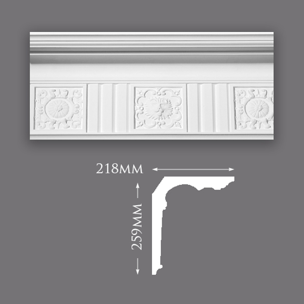 Picture of Majestic Patterned Plaster Cornice