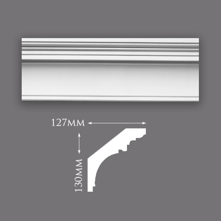 Picture of Georgian Swan Neck Plaster Cornice