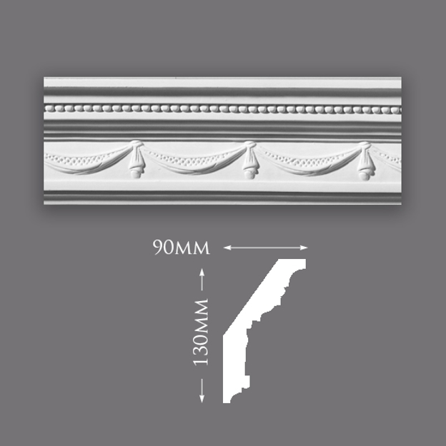Picture of Large Drape & Ball Plaster Cornice