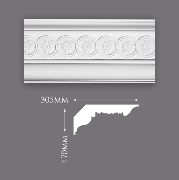 Picture of Beaumont Patterned Plaster Cornice
