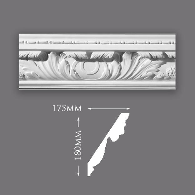 Picture of Large Acanthus Leaf with Bead Cornice