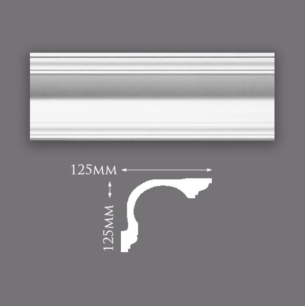 Picture of Trinity Swan Neck Plaster Cornice