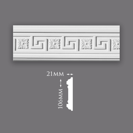 Picture of Greek Key with Motif Panel