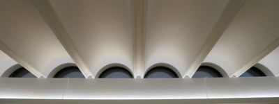 Bespoke Fluted Ceiling installed at Jesus College