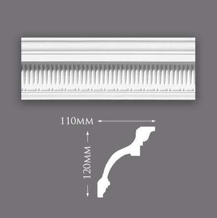 Large Rib and Bead Cornice