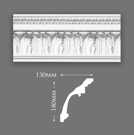 Waterleaf and Scroll Cornice