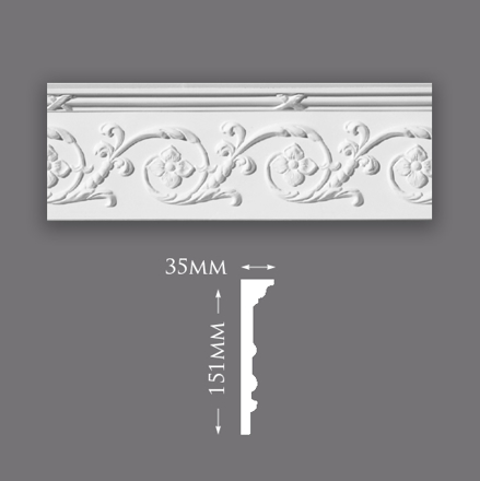 Large Acanthus Scroll Cornice