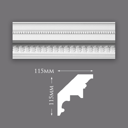 Adam Leaf with Bead Cornice
