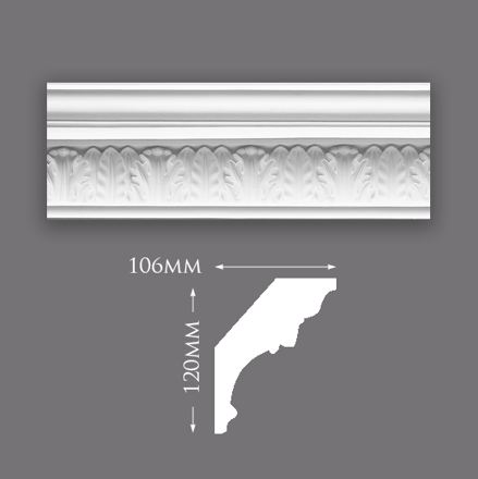 Single Water Leaf Cornice