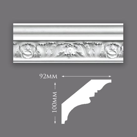 Honeysuckle & Braid Plaster Cornice