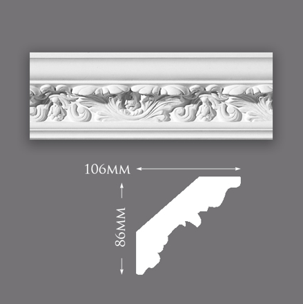 New Acanthus Leaf Plaster Cornice