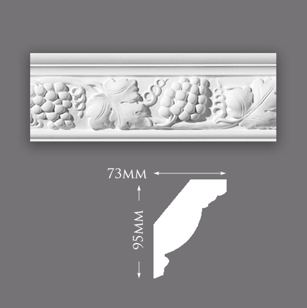 Small Grape Vine Plaster Cornice