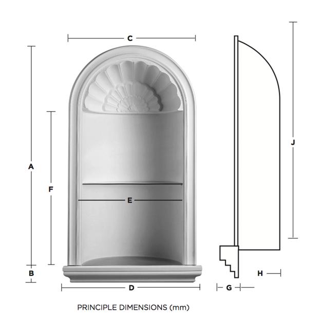 Palladio Plaster Niche