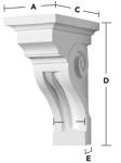 corbel dimensions