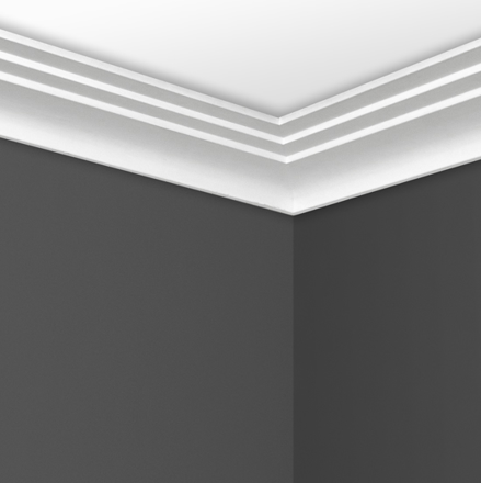 Contemporary Step Cornice in situ