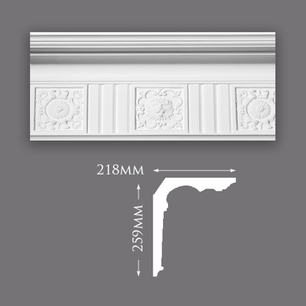 Picture of Sample - Majestic Patterned Plaster Cornice