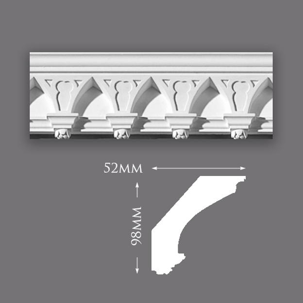 Picture of Sample - Small Gothic Plaster Cornice