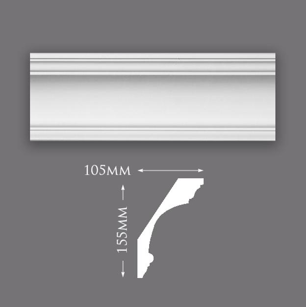 Picture of Sample - Medium Swan Neck Plaster Cornice