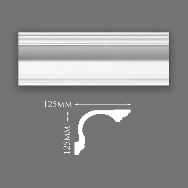 Picture of Sample - Trinity Swan Neck Plaster Cornice