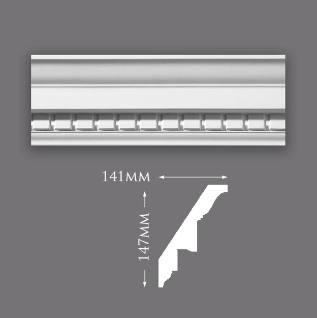 Picture of Sample - Large Dentil Plaster Cornice