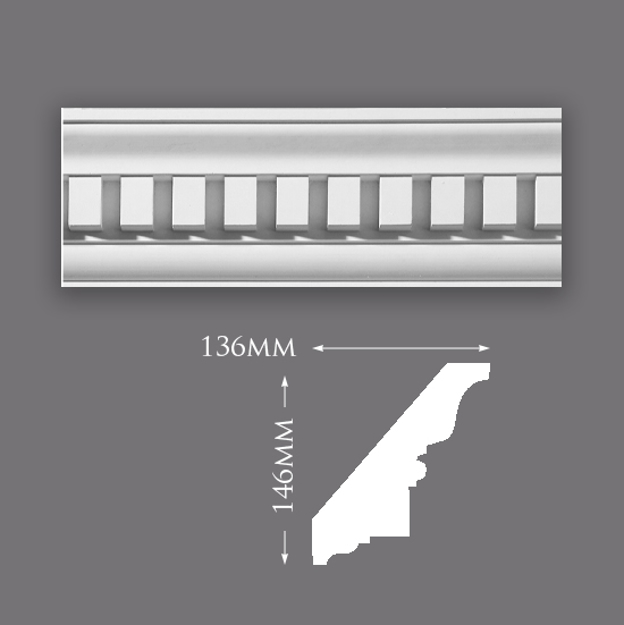 Picture of Sample - Classical Dentil Plaster Cornice
