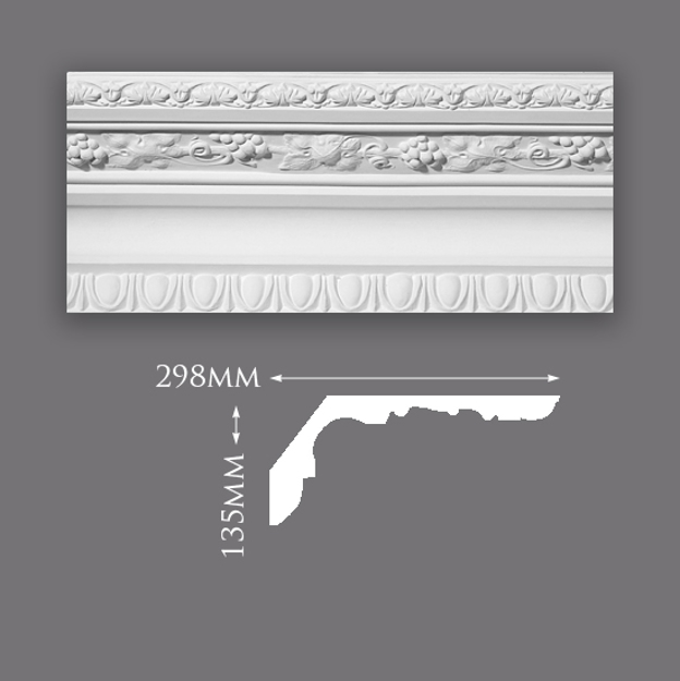 Enriched Vine with Egg & Dart Cornice