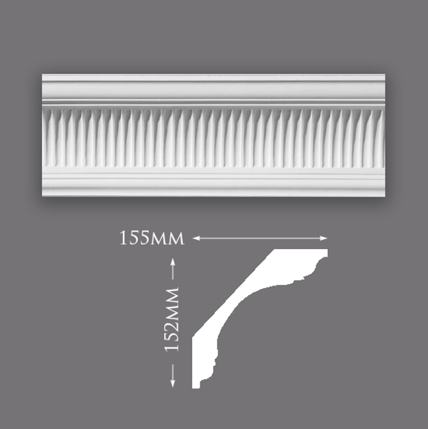 Picture of Sample - Large Ribbed Cove Plaster Cornice