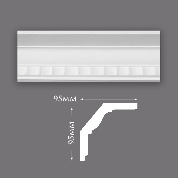 Picture of Sample - Large Fluted Cove Plaster Cornice