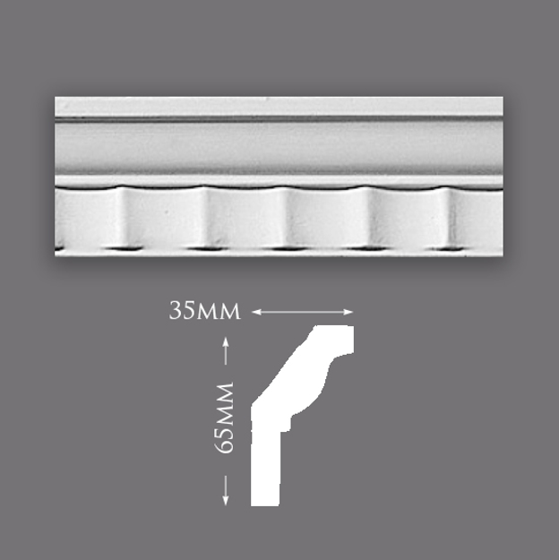 Picture of Sample - Small Fluted Cove Plaster Cornice