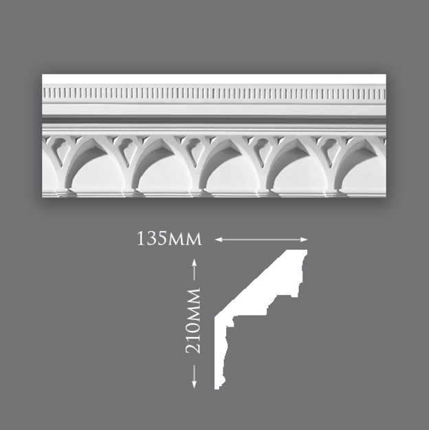 Deep Vault & Rib Plaster Cornice
