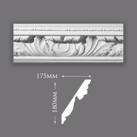 Picture of Sample - Large Acanthus Leaf with Bead Cornice