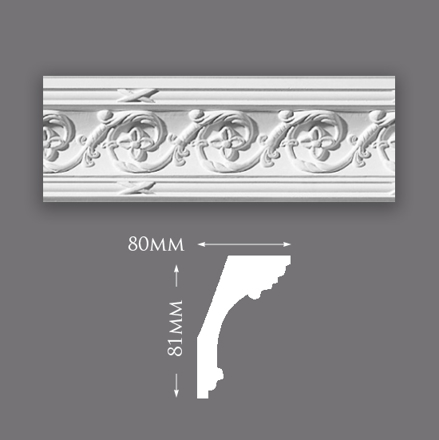 Picture of Sample - Small Acanthus Scroll Plaster Cornice