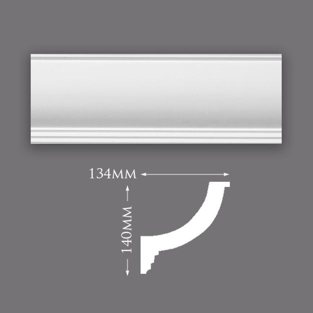 Picture of Sample - Plain Lighting Trough Plaster Cornice