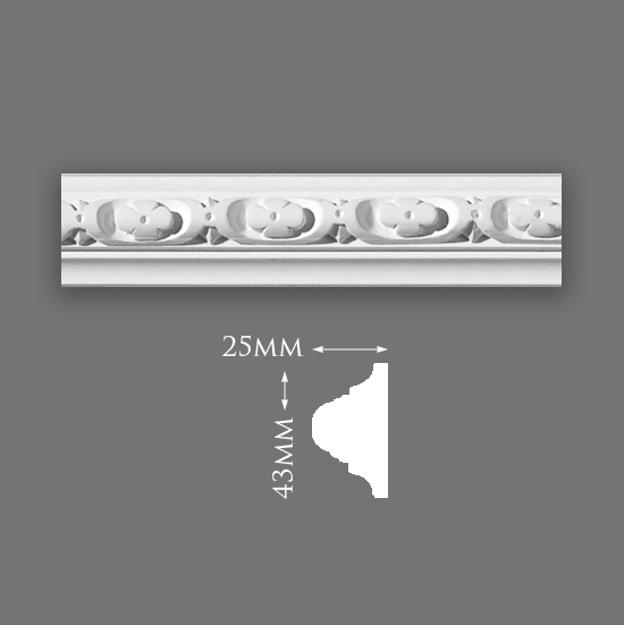 Picture of Sample - Flower & Dart Panel
