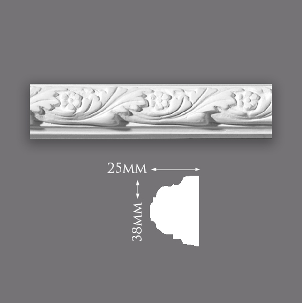 Picture of Sample - Acanthus Leaf & Flower Panel