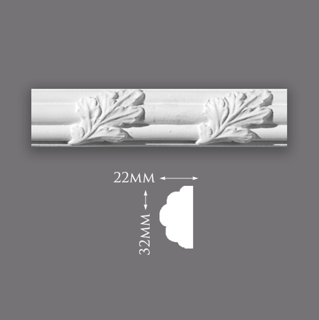 Picture of Sample - Reed & Acanthus Leaf Panel