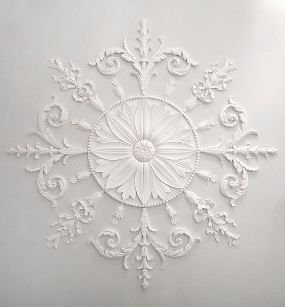Fibrous plaster ceiling decoration